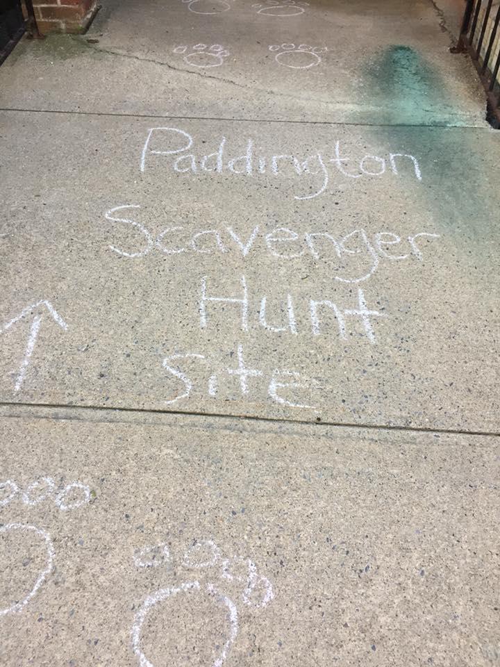 FF Scavenger hunt sidewalk