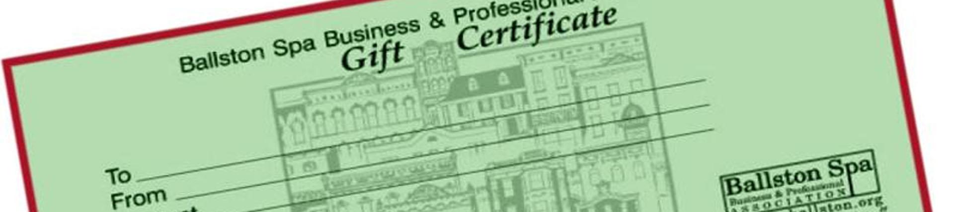 ballston spa gift certificates available at ballston spa national bank