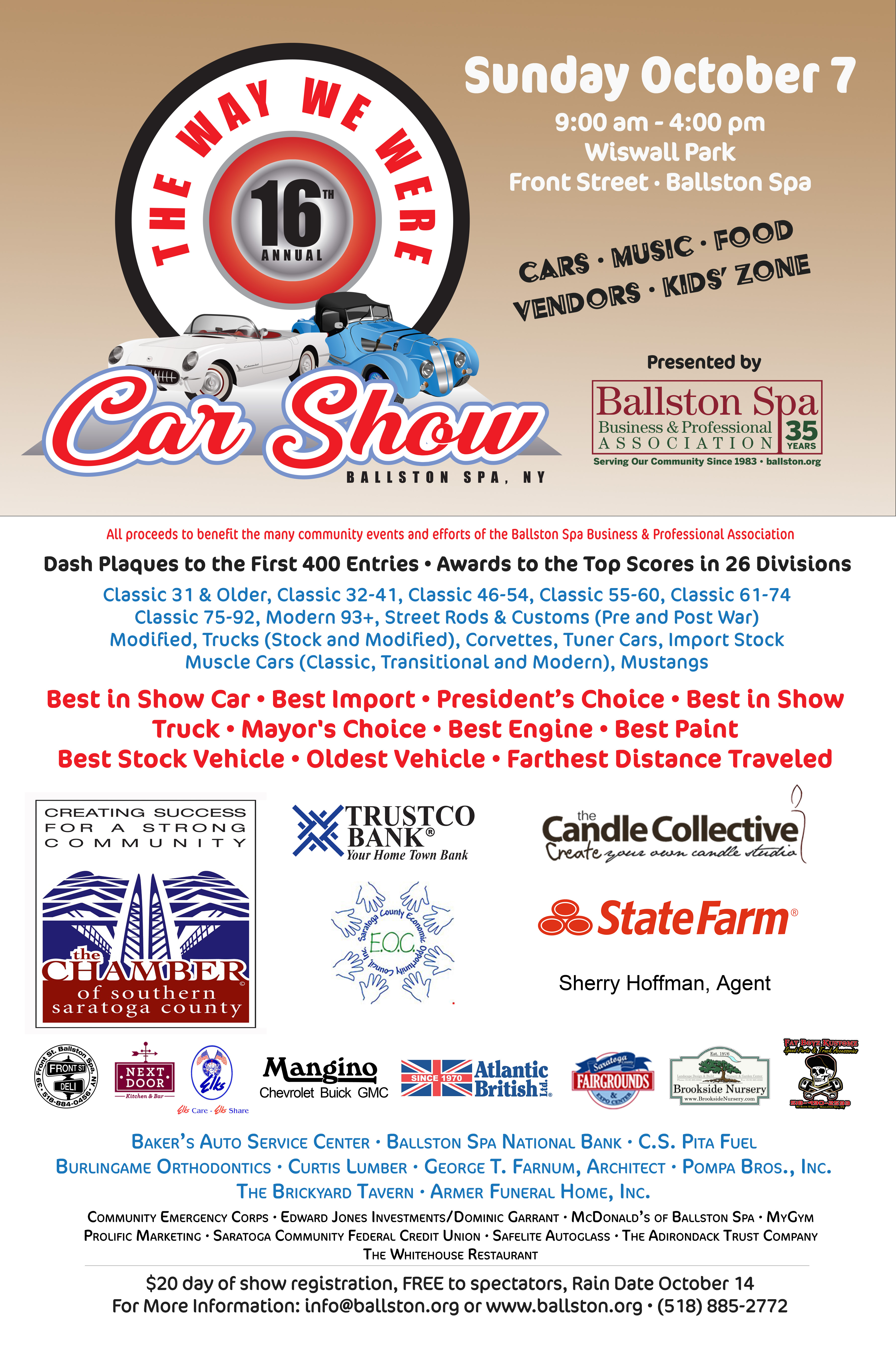 The Way We Were Car Show Archives Ballston Spa Business - Sutherland chevrolet car show